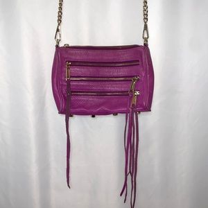 Rebecca Minkoff Purple 5 Zipper Mini Crossbody Bag